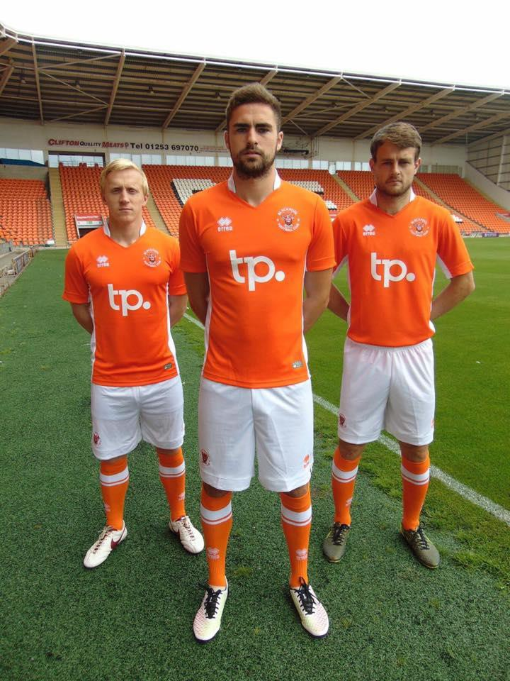 Blackpool FC unveils its new home kit for the 2016 - 2017 season