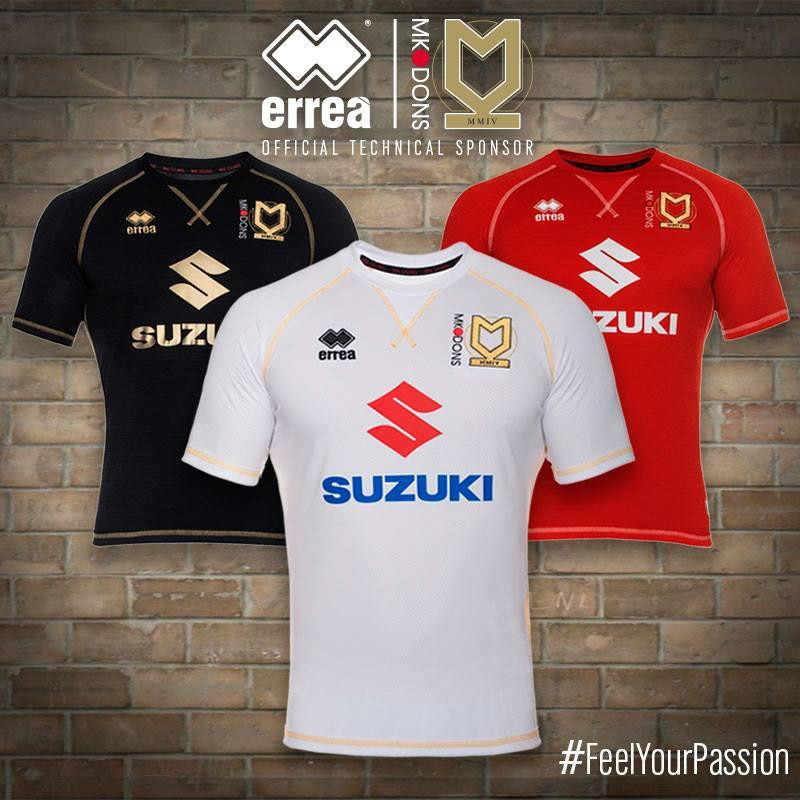 Casual and technical materials blend in the 2016-2017 MK Dons new kit
