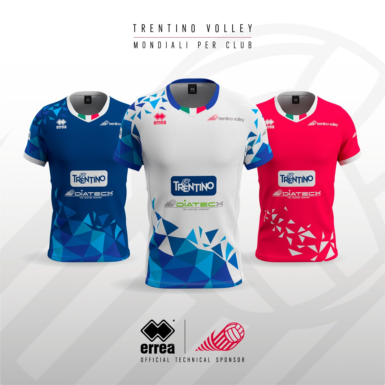 Erreà presents Trentino Volley's new kits for the 2018 Club World Championship!