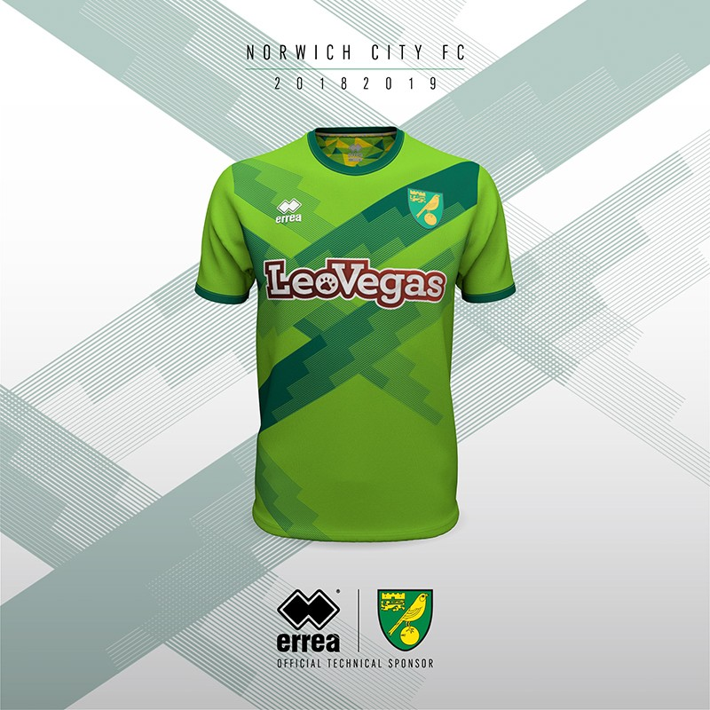 Erreà Sport and Norwich City F.C. unveil the new third shirt for the coming 2018-2019 league season