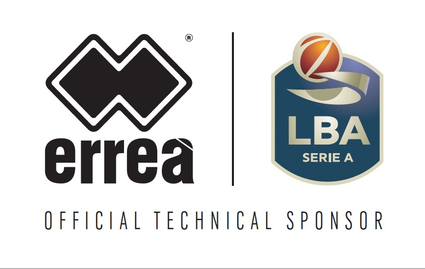 Erreà Sport becomes the official technical sponsor of the LBA, Italy's Basket Serie A league