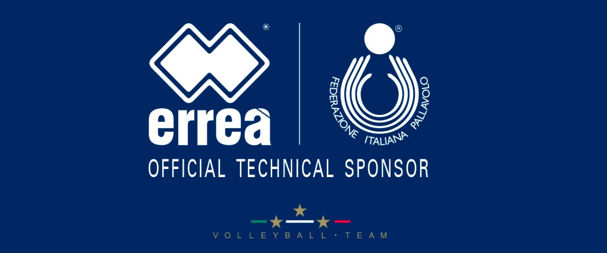 Erreà Sport is the Italian men's and women's national volleyball teams' new technical sponsor