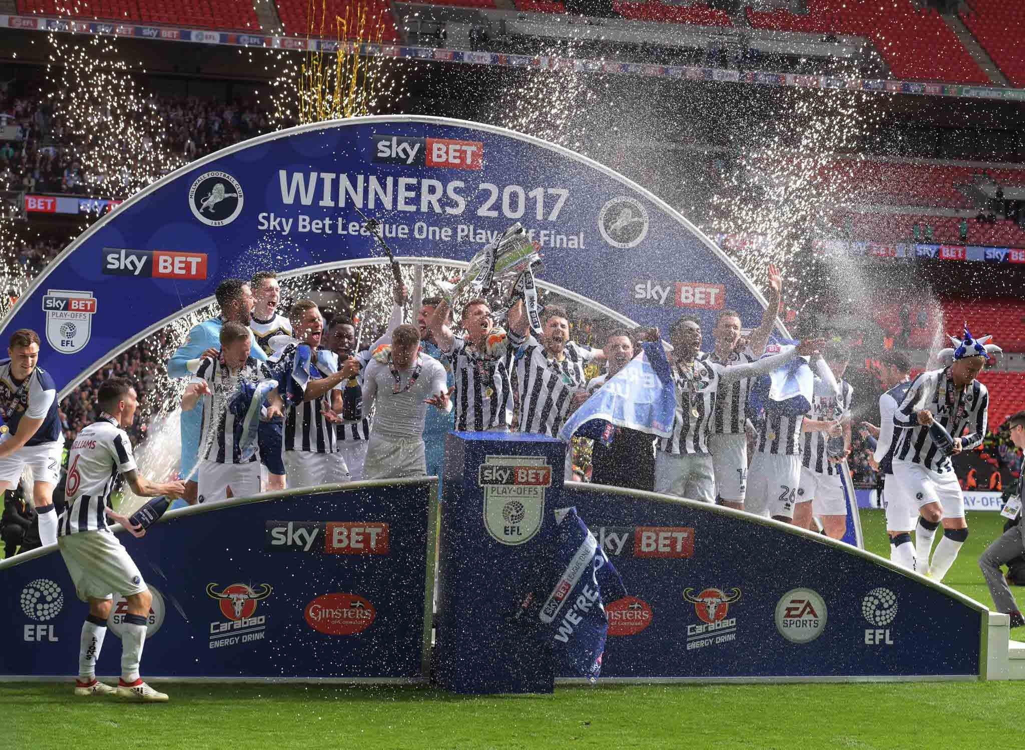 Millwall FC secures promotion to the Championship!!!