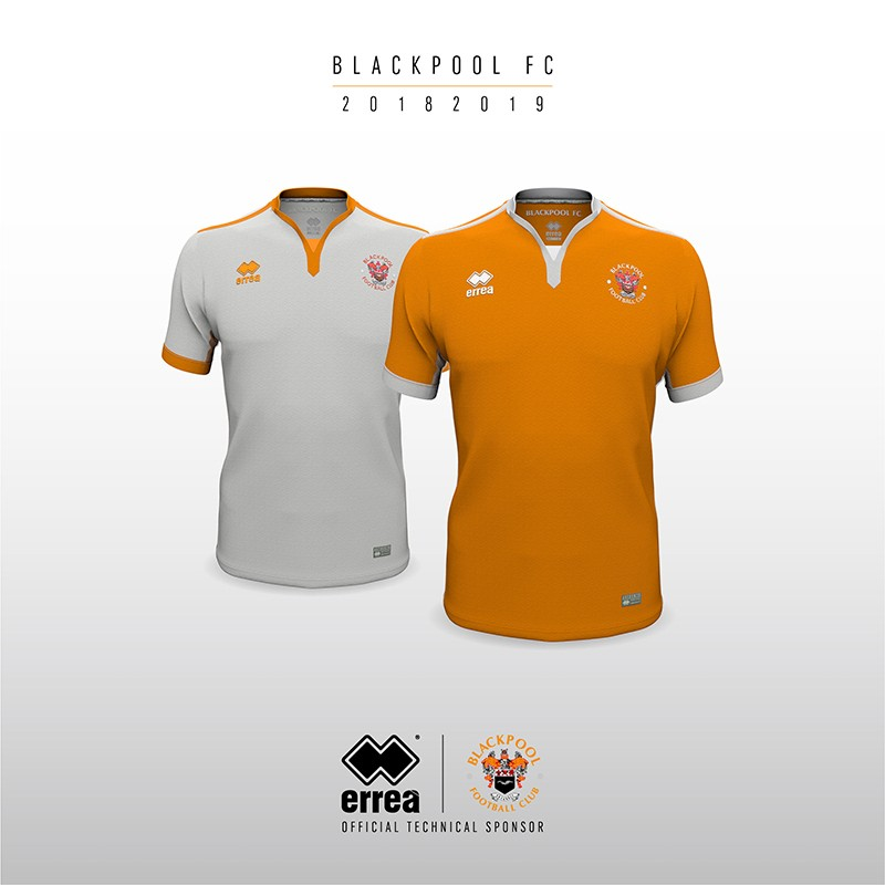 Simplicity and clean lines for Blackpool FC's new 2018-2019 kits from Erreà Sport!