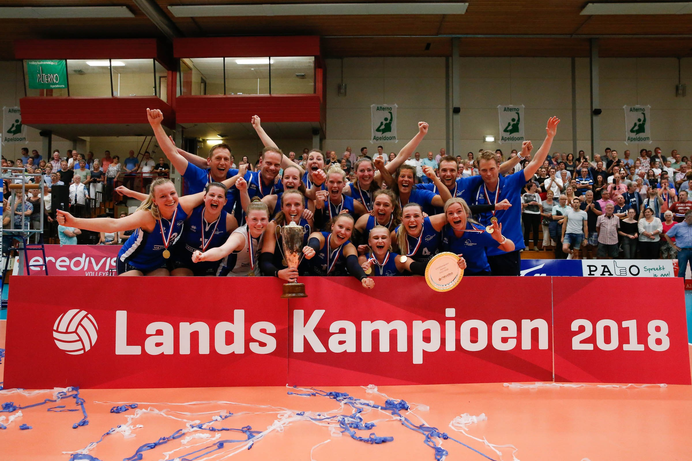 Sliedrecht Sport win the championship title and complete a splendid triple!