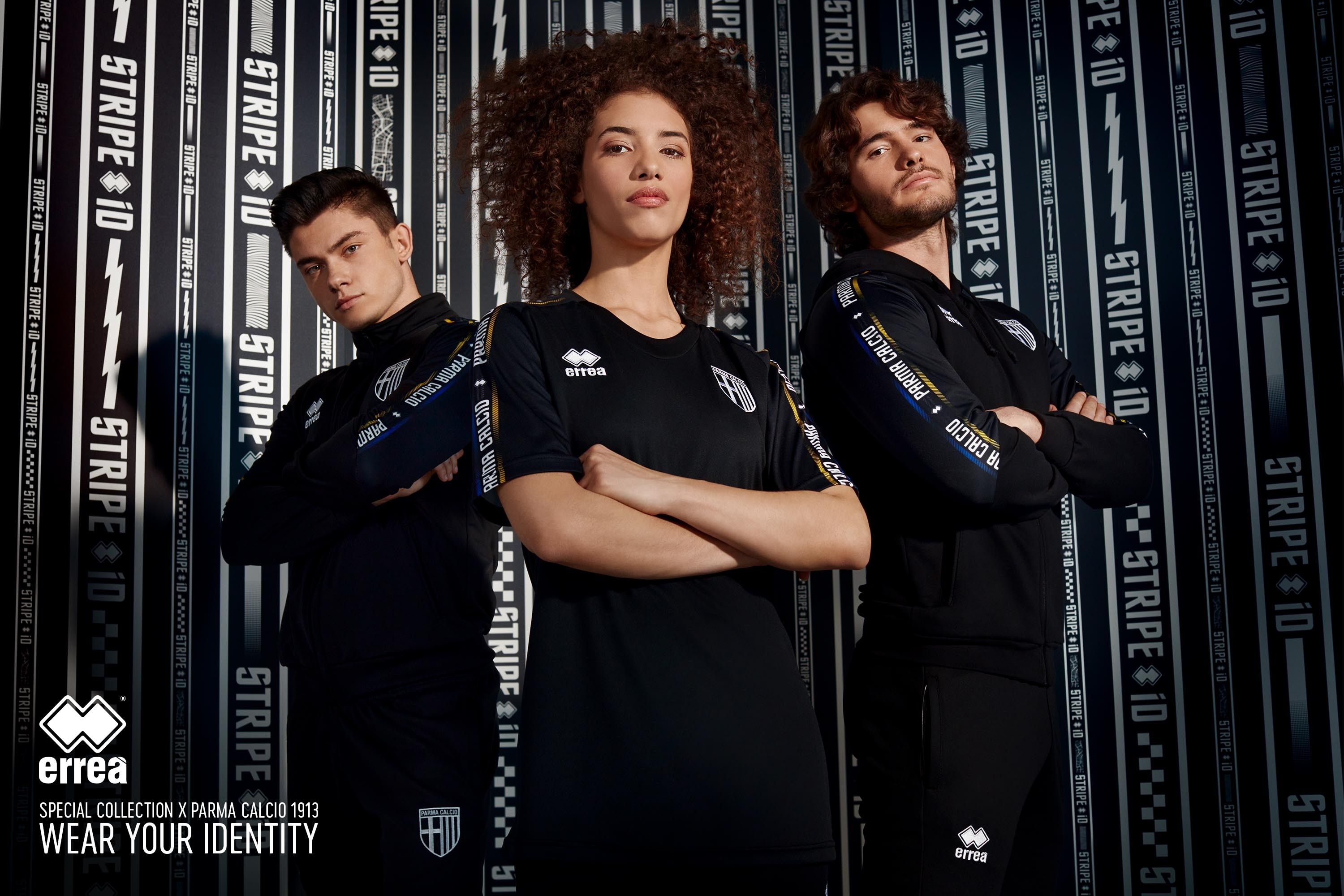 STRIPE iD 2019, the new leisurewear collection from Erreà Sport, is worn for the first time by Parma Calcio