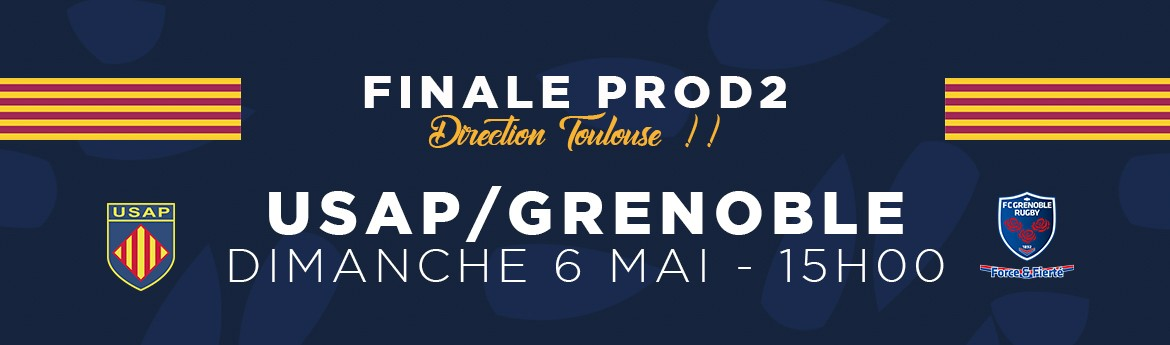 Sunday 6 May - Rugby Perpignan play Grenoble for promotion to the Top 14