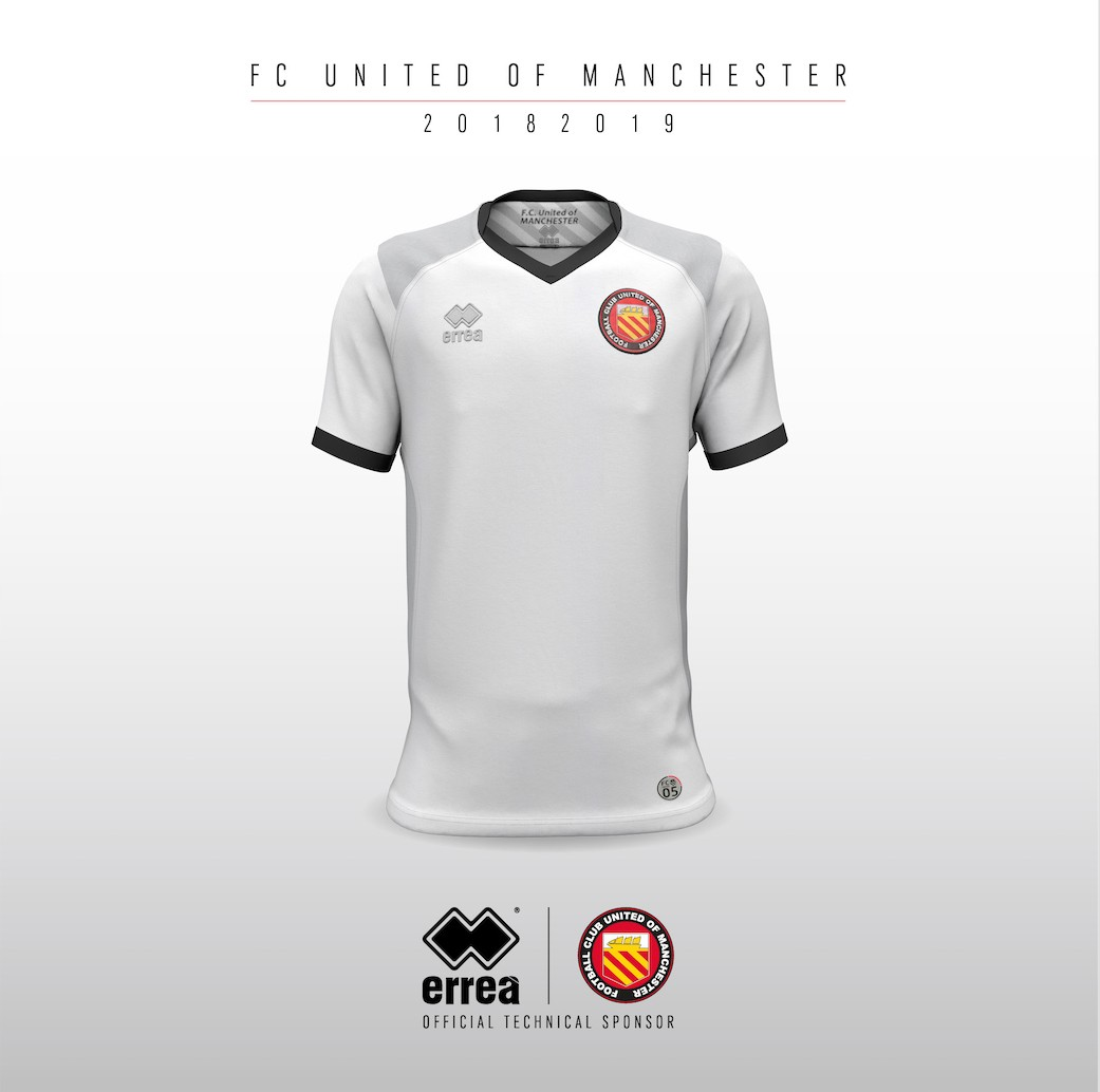 Technical features and sharp lines characterise F.C. United of Manchester's new away 2018-2019 kit