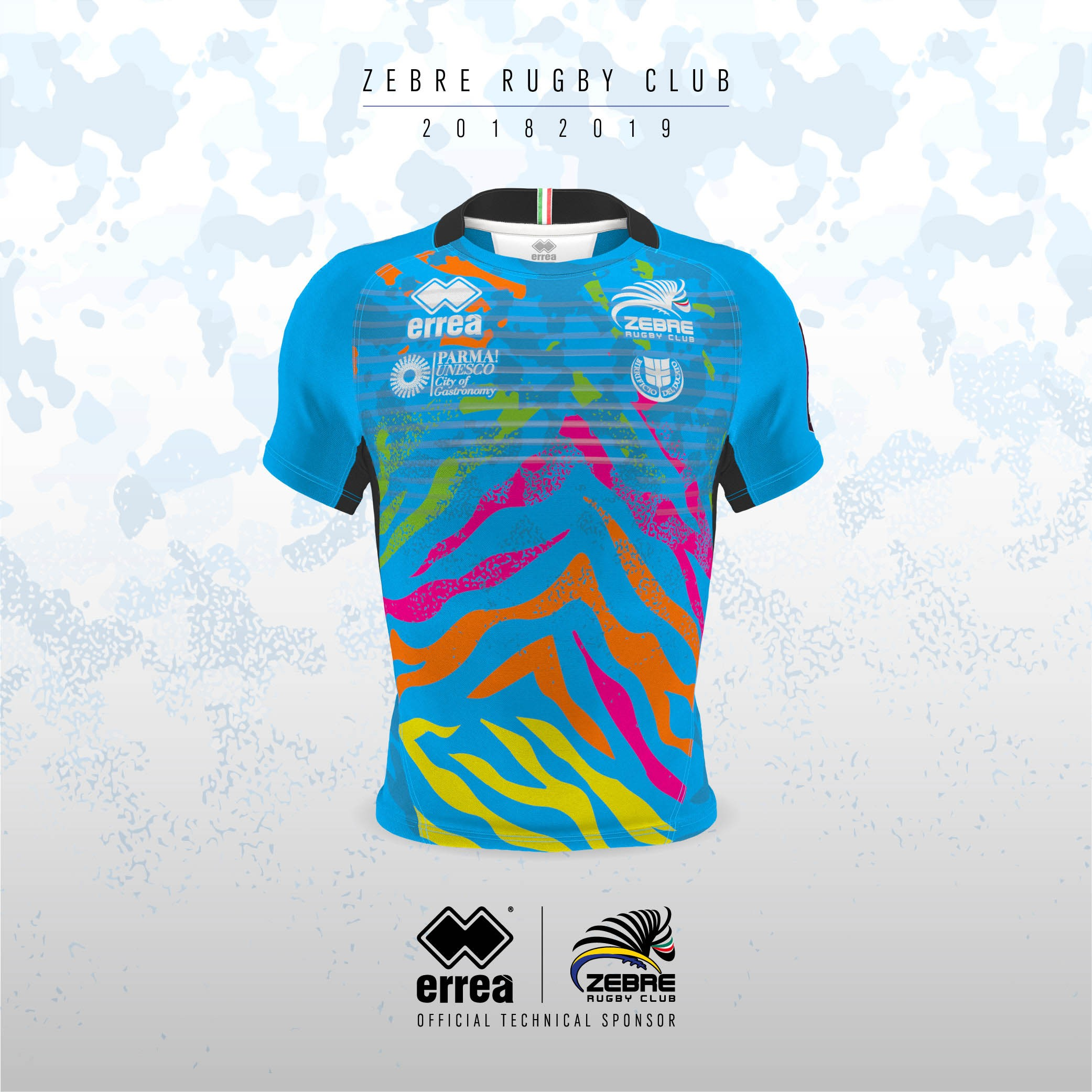The third official kit for Zebre unveiled. Set to make its debut on Saturday 13 October against the Bristol Bears!