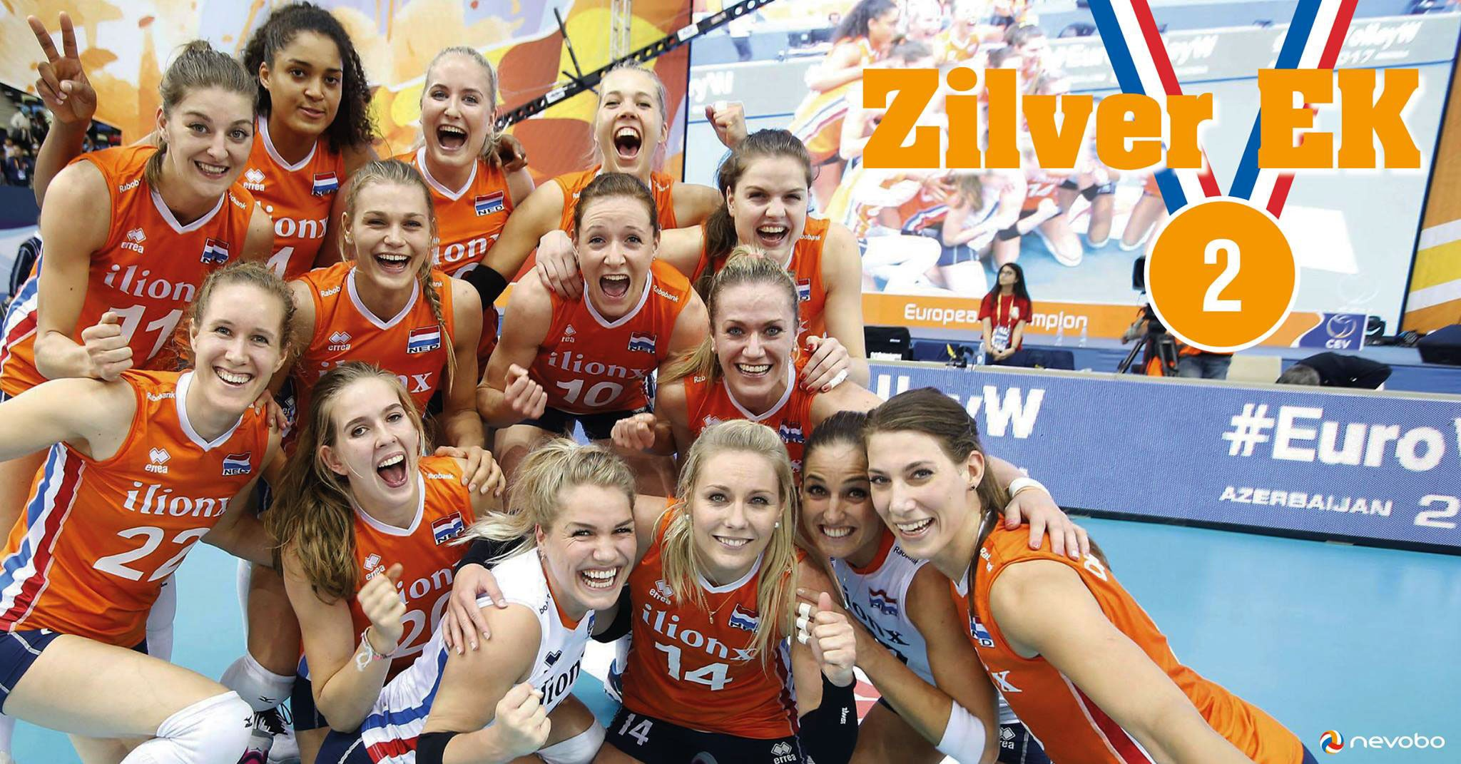 Volleyball European Championship 2017: Holland take silver!!!