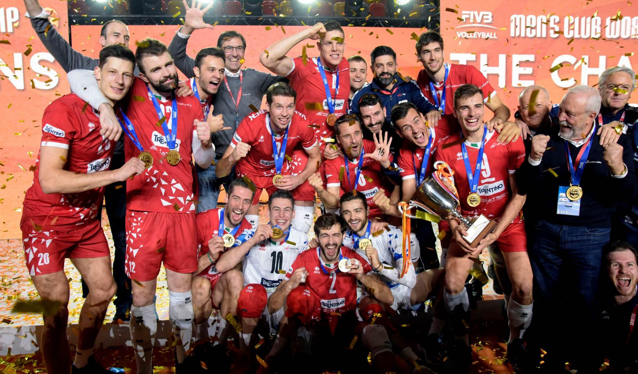World Champions! Trentino Volley triumphant at the 2018 Club World Championship!
